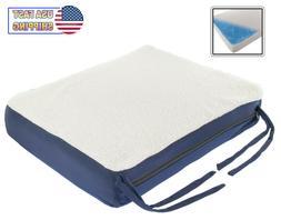 Premium Gel Memory Foam Seat Cushion Pad For Chair, Car, Whe