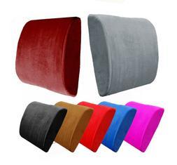Premium Memory Foam Lumbar Cushion Back Support Pillow Car S