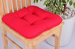 Lushness_Linen Presents 100% Cotton Chair Pad, Color Red