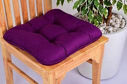 Lushness_Linen Presents 100% Cotton Chair Pad, Color Purple