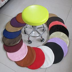 Pu Leather Round Bar Stool Cover Chair Seat Cushion Pad Cove