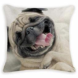 Pug Photo Style Pillows Case Cushion Cover Customized Dog Na