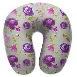 OASBHDUS159 Purple Rose Watercolor Sleep Artifact - U-shaped