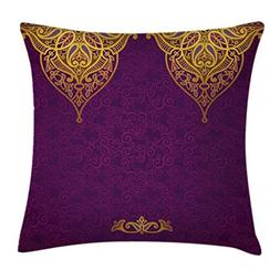 Ambesonne Purple Throw Pillow Cushion Cover, East Oriental R