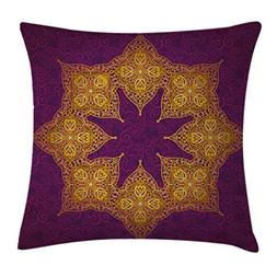 Ambesonne Purple Throw Pillow Cushion Cover by, Traditional