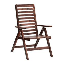IKEA Reclining Chair, Outdoor, Brown Foldable Brown Stained