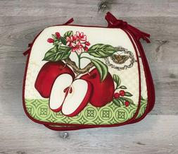 Red & Green Apple Fruit Country Cafe Dining Kitchen Chair Cu