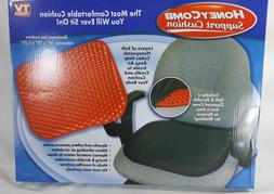 Black Honeycomb Red Gel Seat Cushion with Black Non-Slip Cov