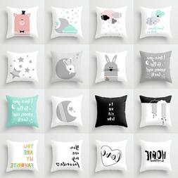 Elife Retro Cartoon animal Linen cotton Baby <font><b>cushio