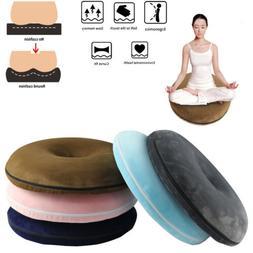Ring Donut Round Memory Foam Seat Car Chair Cushion Pain Rel