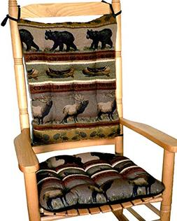 Barnett Products Woodlands Northwoods Rocking Chair Cushions