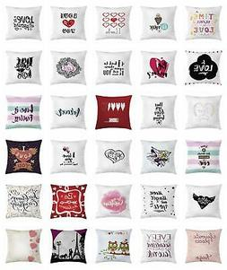 Romantic Throw Pillow Cases Cushion Covers by Ambesonne Home
