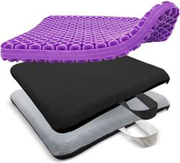 Rongbaor Extra-Large Gel Seat Cushion, Breathable Honeycomb