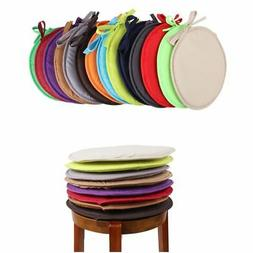 Round Chair Seat Cushion Pad Tie On Strap 8mm Thick Garden D