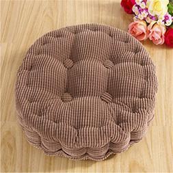 Round Soft Thicken Car,Sofa or Chair Cushion / Pad Coffee