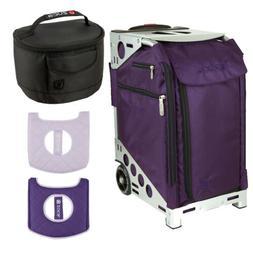 Zuca Royal Purple Pro Artist Case, Silver Frame, Gift Seat C