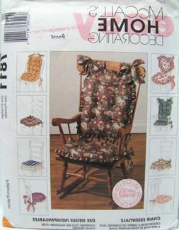 MCCALL'S 7811 Chair Cushions Sewing Pattern ~ UNCUT
