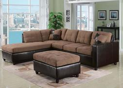 Saddle Easy Rider Sectional Sofa Set Modern Sofa & Chaise Cu