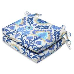 Pillow Perfect Outdoor Santa Maria Azure Squared Corners Sea
