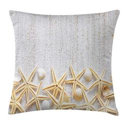 Ambesonne Seashells Throw Pillow Cushion Cover, Sea Shells o