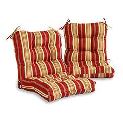 Outdoor Seat/ Back Tie-on Chair Cushions