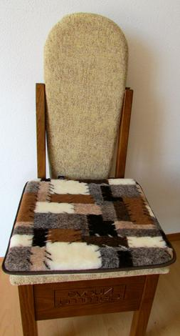 Seat Cushion 2 Pieces PATCHWORK 15 11/16x15 11/16in Pillow C