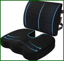 Seat Cushion & Lumbar Support For Car Office Computer Chair