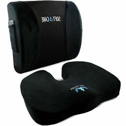 SOFTaCARE Seat Cushion and Lumbar Support Pillow - Set Of 2