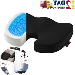 Seat Cushion Car Office Chair - Memory Foam Gel-Enhanced Com