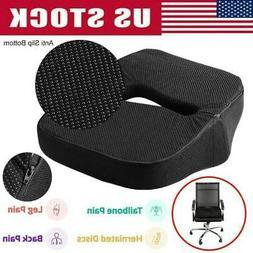 Seat Cushion Car Office Chair Memory Foam Pillow For Tailbon