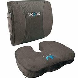 Seat Cushion Coccyx Orthopedic Memory Foam and Lumbar Suppor