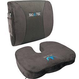 Qutool Seat Cushion Coccyx Orthopedic Memory Foam Lumbar Sup