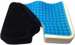 Seat Cushion Gel Pillow Cooling Coccyx Back Pain Relief Chai
