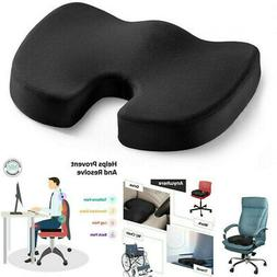 Seat Cushion Office Chair Orthopedic Memory Foam Pain Relief