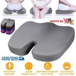 Seat Cushion Orthopedic Memory Foam & Lumbar Support Pillow
