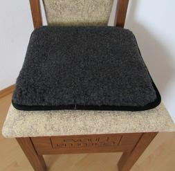 Seat Cushion Pad Chair 15 11/16x15 11/16in 100% Wool/ Faux L