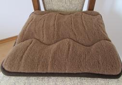 Seat Cushion Padding Pad Chair 15 11/16x15 11/16in 100% Wool