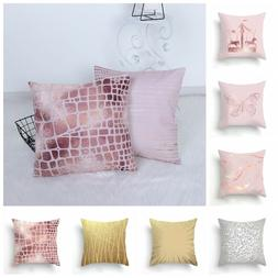 Seat Home Decor Waist Throw Pillow Cases Cushion Cover Peach