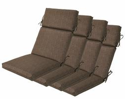 Bossima Outdoor Seat Pad Cushions Patio High Back Dining Cha