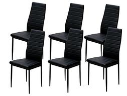 IDS Online 6 PCS Set Modern Style PU Leather Dining Side Cha