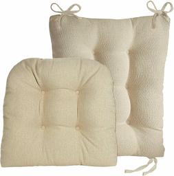 Set Of 2 Seat Pad and Back Pad Non Slip Cushion Natural Rock