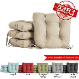 "Set of 4 Dining Chair Cushion Seat Pads 14.5"" Outdoor Living"