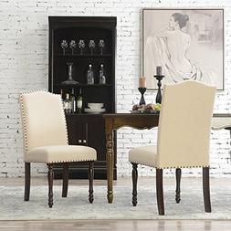Belleze Set of  Pair Classic Vintage Parson Dining Set Chair