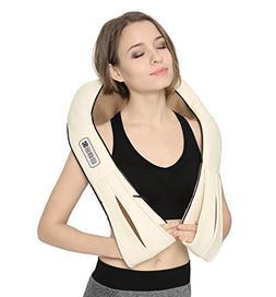 Nekteck Shiatsu Deep Kneading Massage Pillow with Heat, Car/