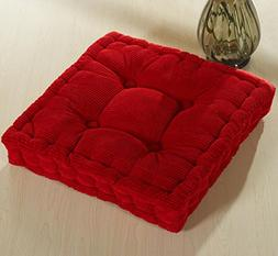 ChezMax Soft Polyester Cotton Chair Cushion Thickened Office