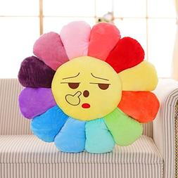 M MOCHOHOME Soft Short Plush Emoji Smiley Emoticon Sunflower