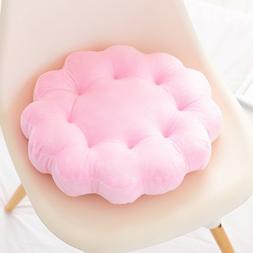 M MOCHOHOME Soft Short Plush Round Flower Seat Cushion Offic