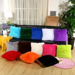 Soft Waist Car Seat Sofa Fur Plush Winter Warm Cushion Cover