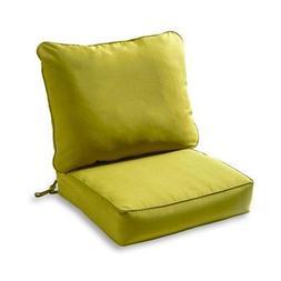 solid deep seat cushion set