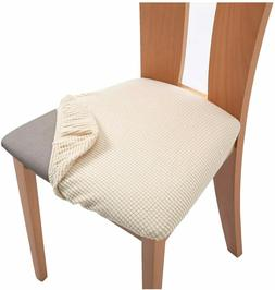 Spandex Dining Room Chair Seat Covers,Removable Washable Ela